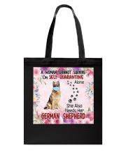 She Also Needs Her German Shepherd Masks Tote Bag thumbnail
