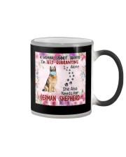 She Also Needs Her German Shepherd Masks Color Changing Mug thumbnail