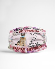 She Also Needs Her German Shepherd Masks Cloth face mask aos-face-mask-lifestyle-22