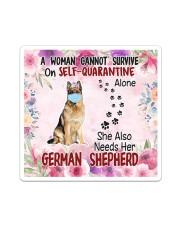 She Also Needs Her German Shepherd Masks Sticker - Single (Vertical) thumbnail