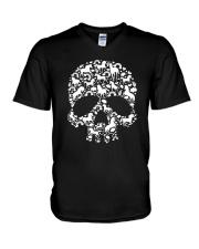 Unicorn skull V-Neck T-Shirt thumbnail