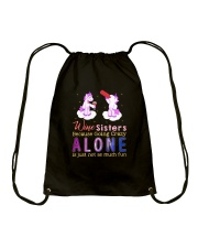 Unicorn alone Drawstring Bag thumbnail