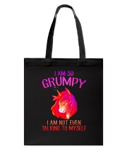 Unicorn grumpy Tote Bag thumbnail