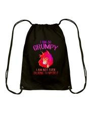 Unicorn grumpy Drawstring Bag thumbnail