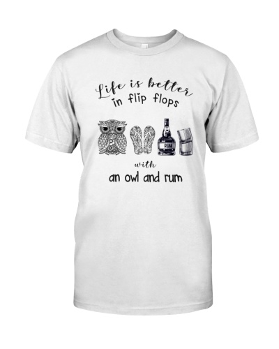 Life is better owl and rum