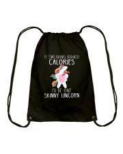 Unicorn calories Drawstring Bag thumbnail