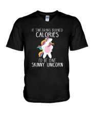 Unicorn calories V-Neck T-Shirt thumbnail