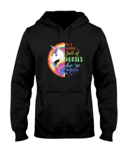 Unicorn in a world Hooded Sweatshirt thumbnail