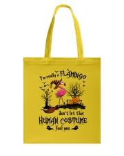 Flamingo human costume Tote Bag thumbnail