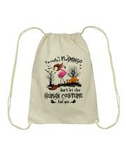 Flamingo human costume Drawstring Bag thumbnail