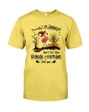Flamingo human costume Premium Fit Mens Tee thumbnail