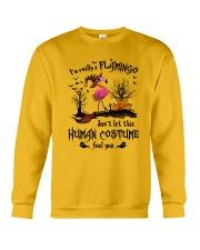 Flamingo human costume Crewneck Sweatshirt thumbnail