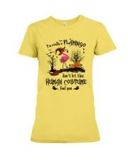 Flamingo human costume Premium Fit Ladies Tee thumbnail