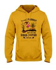 Flamingo human costume Hooded Sweatshirt thumbnail