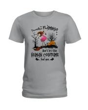 Flamingo human costume Ladies T-Shirt thumbnail