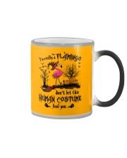 Flamingo human costume Color Changing Mug thumbnail