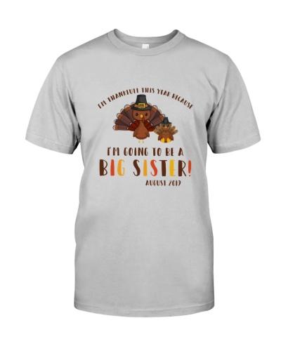 Thanksgiving big sister raglan