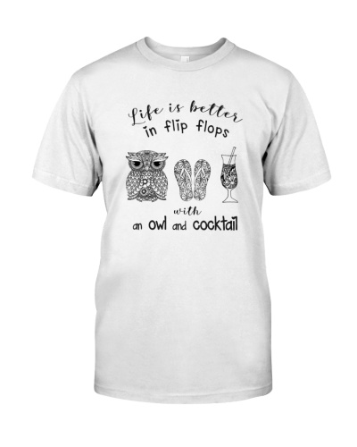 Life is better owl and cocktail