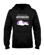 Unicorn exhaustipated Hooded Sweatshirt thumbnail