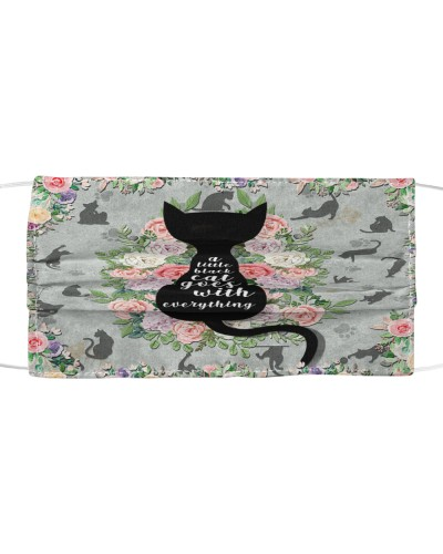 A Little Black Cat Goes With Everything Mask