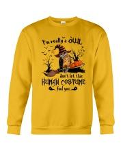 Owl human costume Crewneck Sweatshirt thumbnail