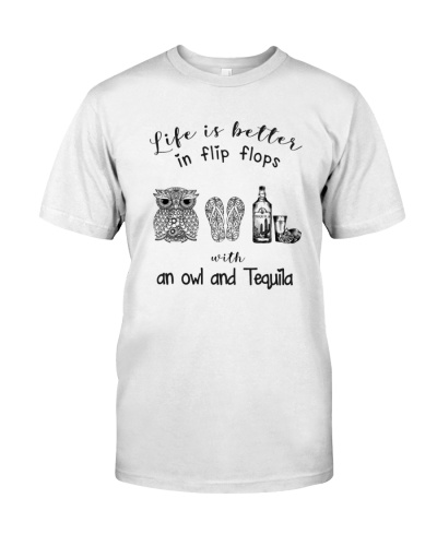 Life is better owl and tequila