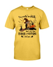 Owl human costume Classic T-Shirt thumbnail