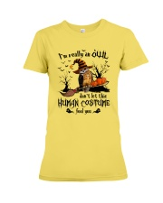 Owl human costume Premium Fit Ladies Tee thumbnail