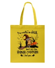 Owl human costume Tote Bag tile