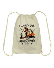 Owl human costume Drawstring Bag thumbnail