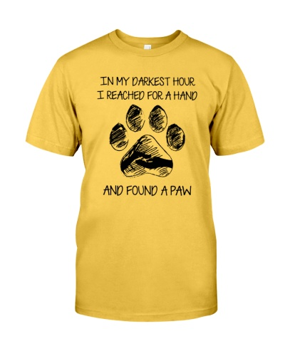 And found a paw