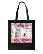 She Also Needs Her British Exotic Shorthair Masks Tote Bag thumbnail