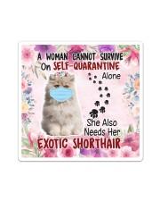 She Also Needs Her British Exotic Shorthair Masks Sticker tile