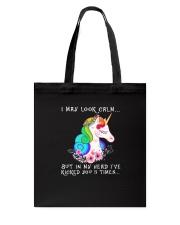 Unicorn 3 times Tote Bag thumbnail