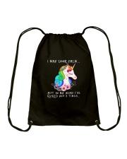 Unicorn 3 times Drawstring Bag thumbnail