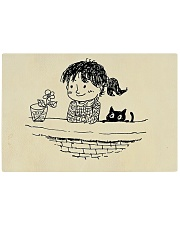 TAGLIERE 'CAT AND FLOWER' Rectangle Cutting Board front