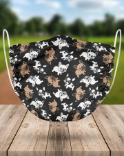 Cute Frenchie Face Mask 2 Layer Face Mask - Single aos-face-mask-2-layers-lifestyle-front-24