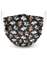 Cute Frenchie Face Mask 2 Layer Face Mask - Single front
