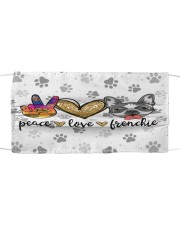 Peace Love Frenchie Face Mask Cloth face mask thumbnail