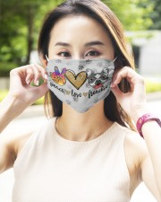 Peace Love Frenchie Face Mask 2 Layer Face Mask - Single aos-face-mask-2-layers-lifestyle-front-10