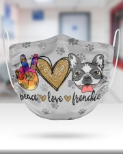 Peace Love Frenchie Face Mask 2 Layer Face Mask - Single aos-face-mask-2-layers-lifestyle-front-27