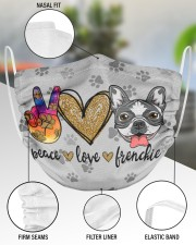 Peace Love Frenchie Face Mask 2 Layer Face Mask - Single aos-face-mask-2-layers-lifestyle-front-51