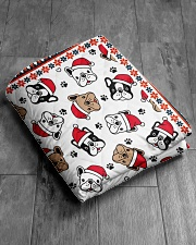 "Cute Frenchie Santa Quilt Quilt 50""x60"" - Throw aos-quilt-50x60-lifestyle-closeup-front-06"