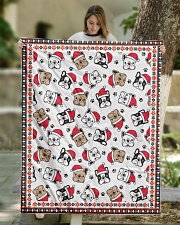 "Cute Frenchie Santa Quilt Quilt 50""x60"" - Throw aos-quilt-50x60-lifestyle-front-01"