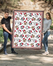 "Cute Frenchie Santa Quilt Quilt 50""x60"" - Throw aos-quilt-50x60-lifestyle-front-02"