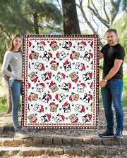 "Cute Frenchie Santa Quilt Quilt 50""x60"" - Throw aos-quilt-50x60-lifestyle-front-04"