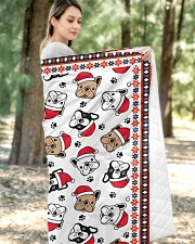 "Cute Frenchie Santa Quilt Quilt 50""x60"" - Throw aos-quilt-50x60-lifestyle-front-05"