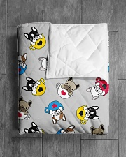 """Cute Frenchie in Cup Quilt 50""""x60"""" - Throw aos-quilt-50x60-lifestyle-closeup-front-04"""