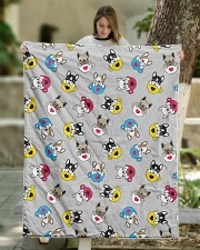 """Cute Frenchie in Cup Quilt 50""""x60"""" - Throw aos-quilt-50x60-lifestyle-front-01"""