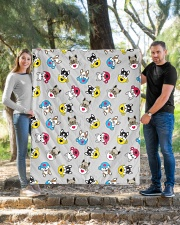 """Cute Frenchie in Cup Quilt 50""""x60"""" - Throw aos-quilt-50x60-lifestyle-front-04"""